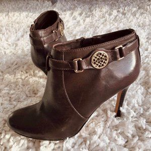 🦙COACH Leather Ankle Boots
